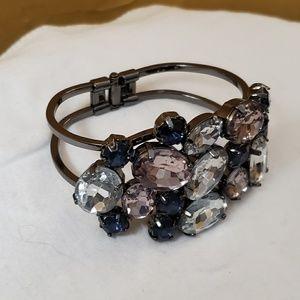 NEW LOFT Chunky Blue Rhinestone Bracelet #327